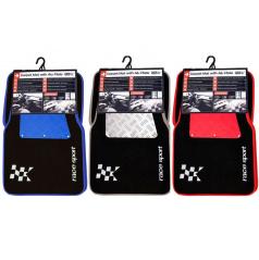 Velurové černé autokoberce Racing (3 barvy)