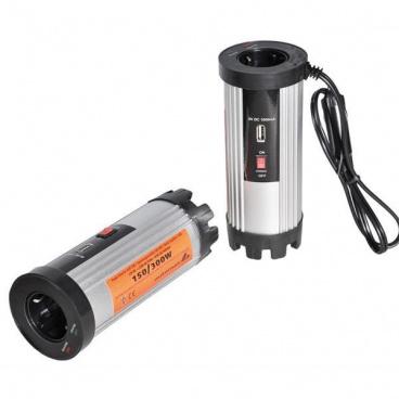 Adaptér napětí z 12V na 220V - 150W s USB 1A