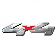 Plastický znak 4X4 alu provedení s podlepením 120X30 mm