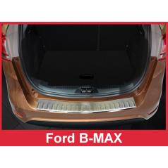 Nerez kryt- ochrana prahu zadného nárazníka Ford B-MAX 2012-16
