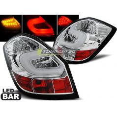 Škoda Fabia 2 2007-06.14 zadní lampy chrome LED BAR (LDSK05)