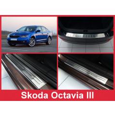 Sada nerez autodoplňků 5 ks Škoda Octavia III