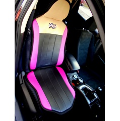 Potah na přední sedadlo barva černá/růžová