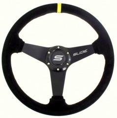 Sportovní volant WRC SLIDE černý (semiš potah) 350 mm