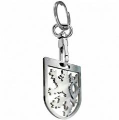 Přívěsek na klíče - klíčenka ČR lev kovový stříbrný