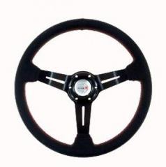 Sportovní volant WRC umělá kůže černý 350 mm