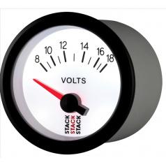 Stack elektronický budík Voltmetr 52 mm ST3266