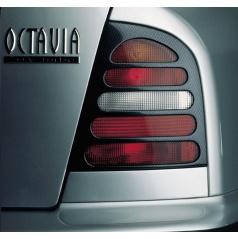 Kryty zadních světel Milotec (masky) - ABS karbon, Škoda Octavia Limousine