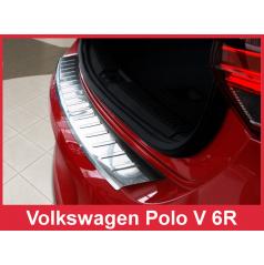 Nerez kryt- ochrana prahu zadního nárazníku Volkswagen Polo V 6R 2009-14