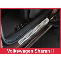Nerez ochranné lišty prahu dveří 4ks Volkswagen Sharan 2 2010-16