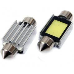1 LED  EXTRA COB3 žárovky sulfit bílé 39 mm s odporem (CANBUS) - 2 ks